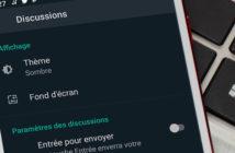 Activer le mode sombre sur l'application WhatsApp pour Android