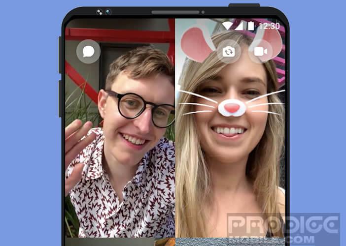 Chat vidéo avec l'application Facebook Messenger
