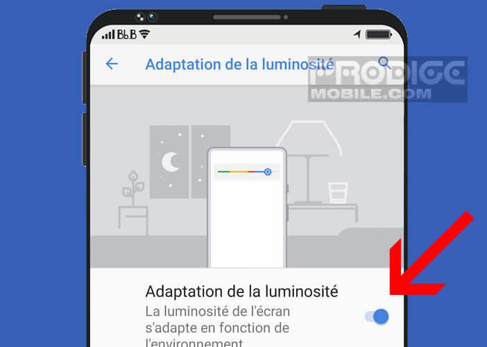 L'écran de votre smartphone s'adapte à vos conditions lumineuses