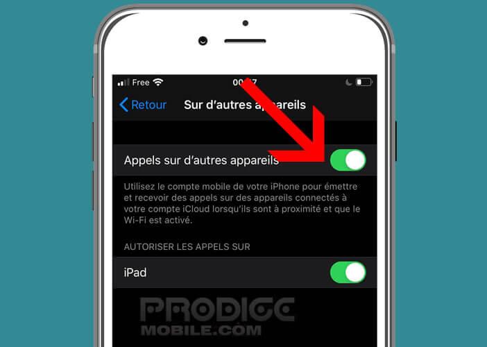 Bloquer les sonneries vers les autres appareils liés au même compte iCloud