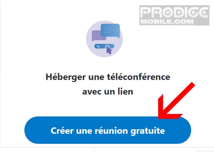 Créer une réunion gratuite par webcam avec Skype