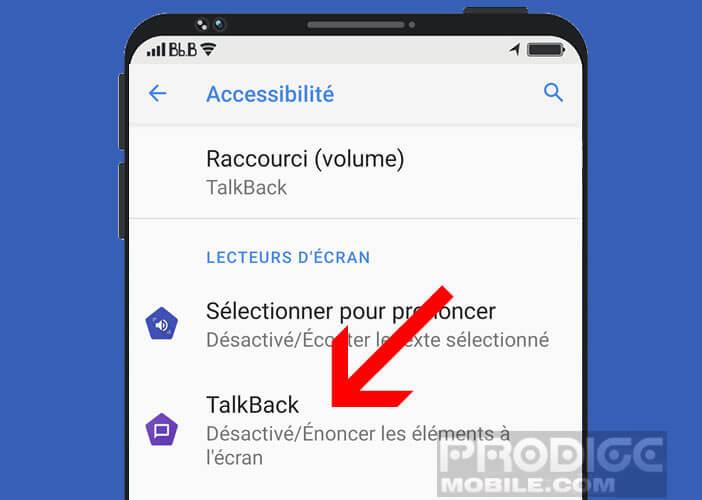 Les fonctions accessibilité d'Android pour les handicaps