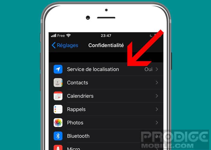 Gérer les autorisations aux services de localisation d'iOS