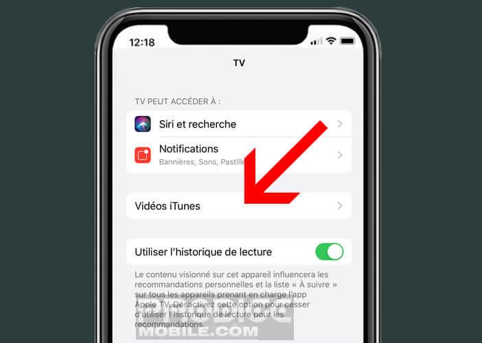 Réduire le débit des vidéos de l'Apple TV+