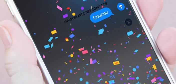 Ajouter des effets avec vos messages envoyés depuis iMessage