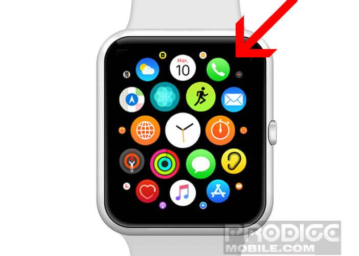 Utiliser FaceTime depuis l'application téléphone de l'Apple Watch