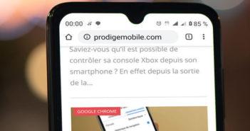 Editer une adresse web sur Google Chrome pour Android