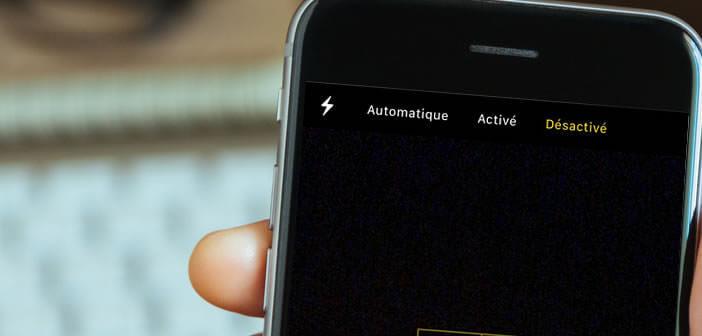 Passer le flash de l'iPhone en mode manuel