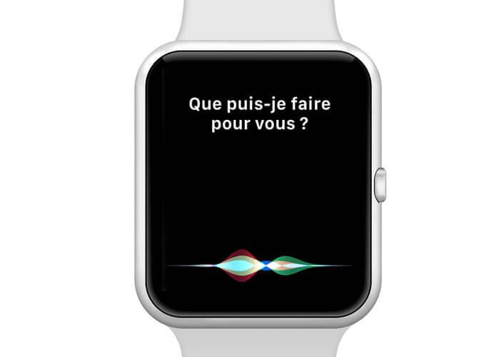 Lancer l'assistant Siri depuis sa montre
