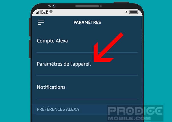 Connecter un appareil Bluetooth à Alexa