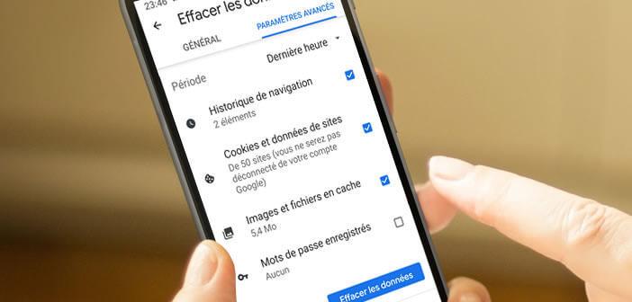 Supprimer les cookies et les données liées à la navigation sur Chrome