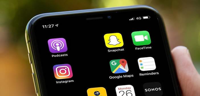 Placer des icônes vierges sur l'écran d'accueil de l'iPhone