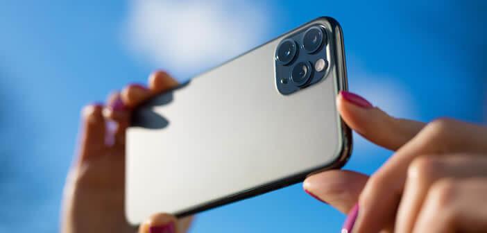 Méthode pour activer le mode rafale de l'appareil photo de l'iPhone