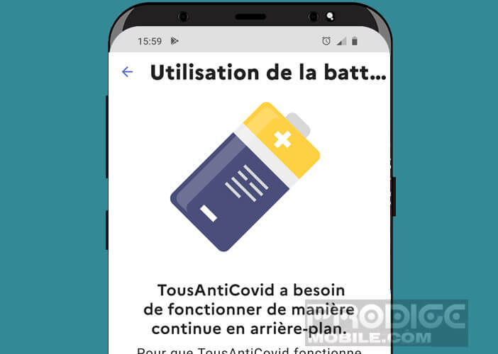 Pensez à désactiver l'optimiseur de batterie pour StopCovid