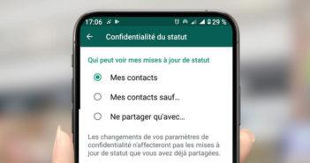 Cacher les informations de connexion de votre statut WhatsApp