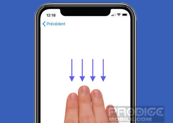 Se servir d'un iPhone comme d'un pavé tactile