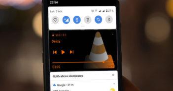 Masquer automatiquement les contrôles audio et vidéo du volet de notification