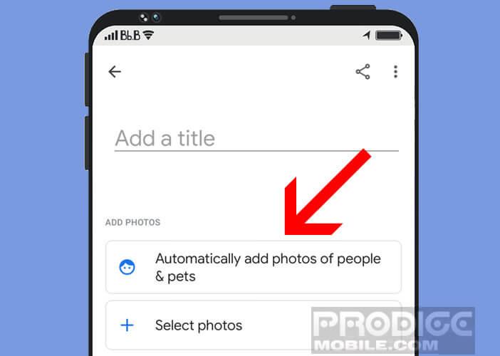 Ajouter automatiquement des photos de personnes