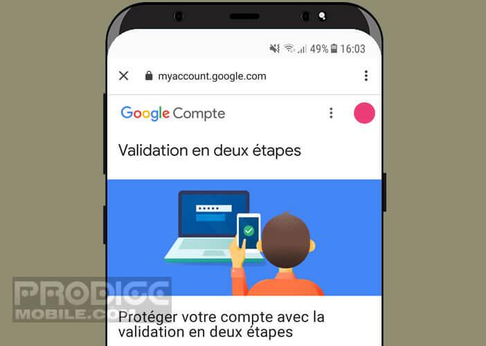 Activer la validation deux étapes pour protéger vos accès à Google