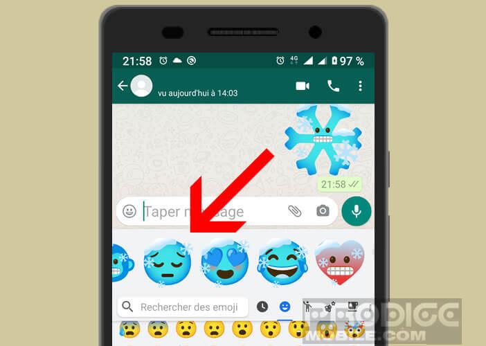 Exemple d'icônes réalisées avec la fonction Emoji Kitchen