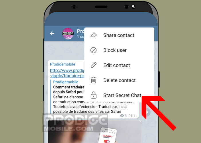 Lancer une conversation secrète sur votre application de messagerie