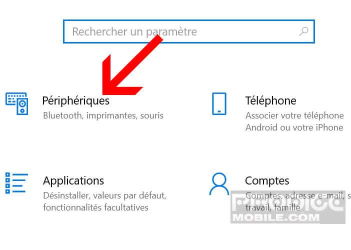 Ouvrez les paramètres des écouteurs Bluetooth de votre PC
