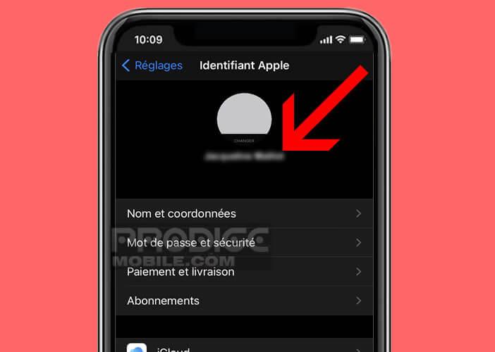 Vérifier que tous les appareils disposent du même Apple ID