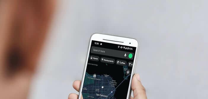 Activer le thème foncé sur l'application Google Maps