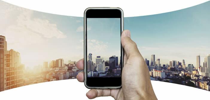 Créer des photos panoramiques avec le capteur de l'iPhone