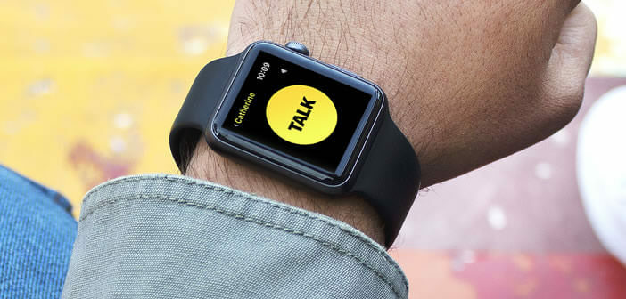 Guide d'utilisation de la fonction Talkie-walkie de l'Apple Watch