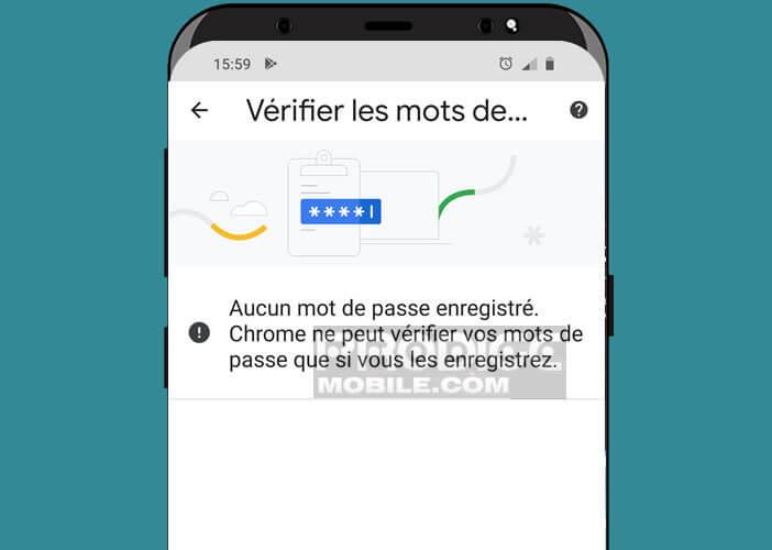 Lancer l'option Password Checkup dans Chrome