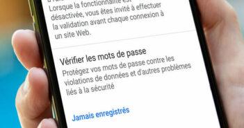 Vérifier la sécurité des mots de passe enregistrés sur Google Chrome