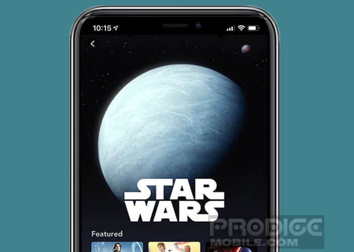 Afficher le catalogue Disney grâce à l'application iOS