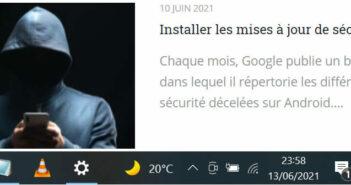 Supprimer l'icône du widget météo de Windows