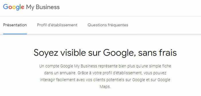 Créer votre fiche entreprise sur Google My Business