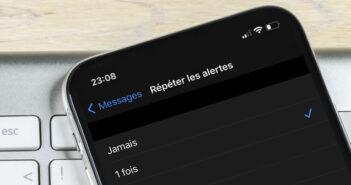 Supprimer les répétitions d'alerte de SMS sur un iPhone